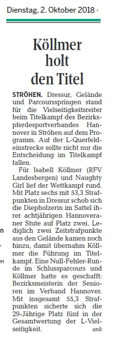 Köllmer holt den Titel DieHarke 02.10.2018©DieHarke