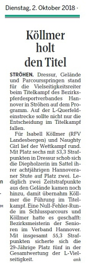 Köllmer holt den Titel DieHarke 02.10.2018