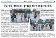 Marie Frormann springt noch an die Spitze