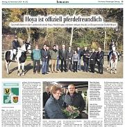 Pferdefreundliche Gemeinde 2014 Hoya