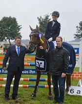 Sofie Lange RFV Landesbergen Tagessiegerin im Volksbank-Kreis Cup©Kreispferdesportverband Nienburg