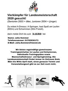 Traniningsangebot Vierkampf©Kreispferdesportverband Nienburg
